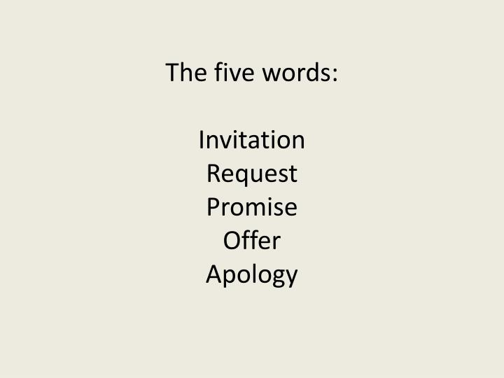The five words: