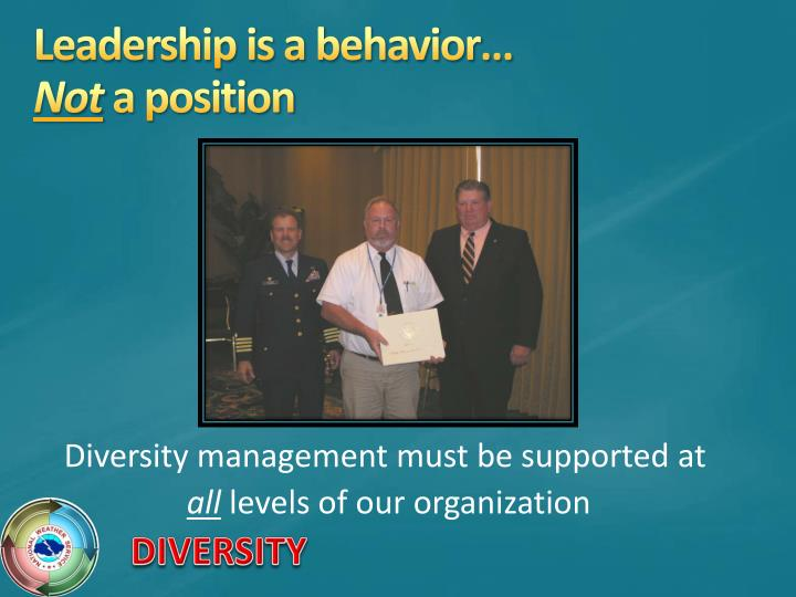 Diversity management must be supported at