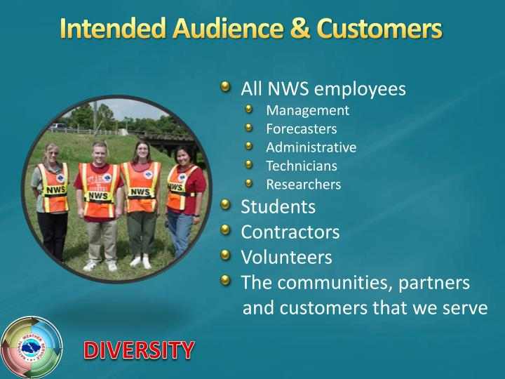 Intended audience customers