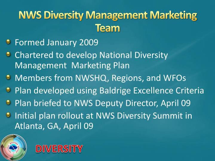 NWS Diversity Management Marketing Team