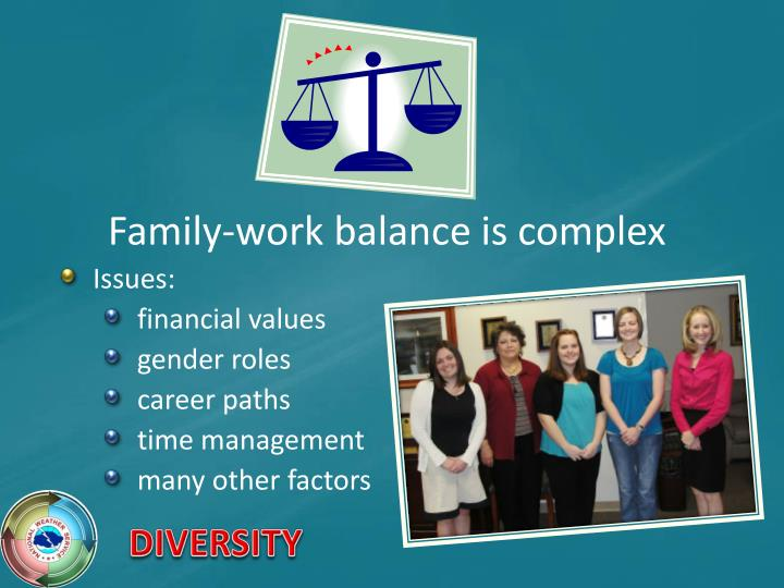 Family-work balance is complex
