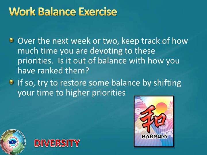 Work Balance Exercise