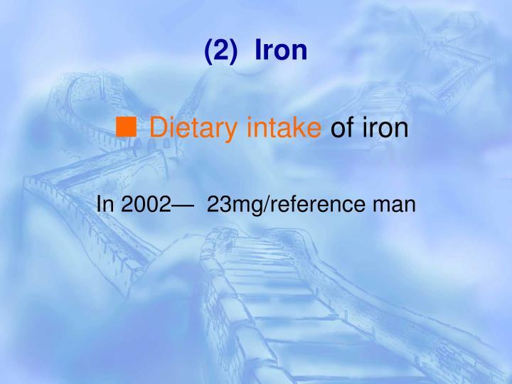 (2)  Iron