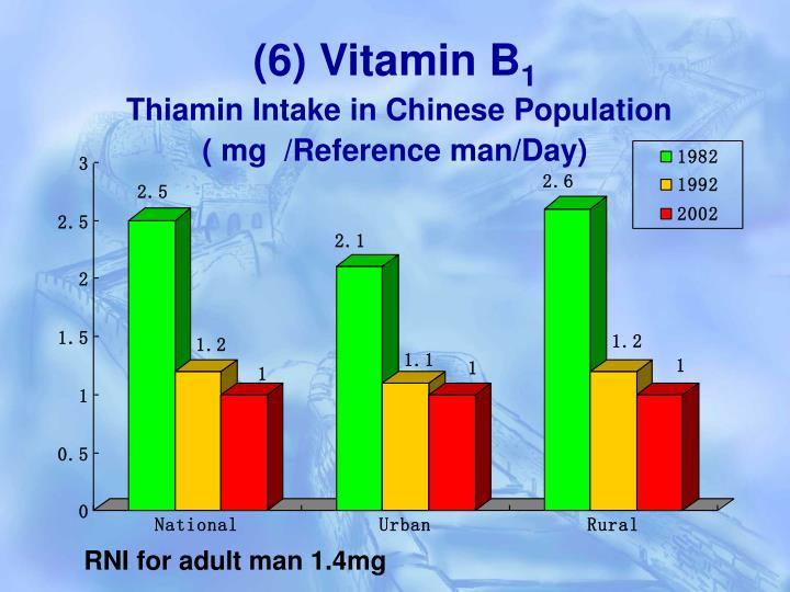 (6) Vitamin B
