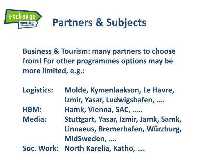 Partners &