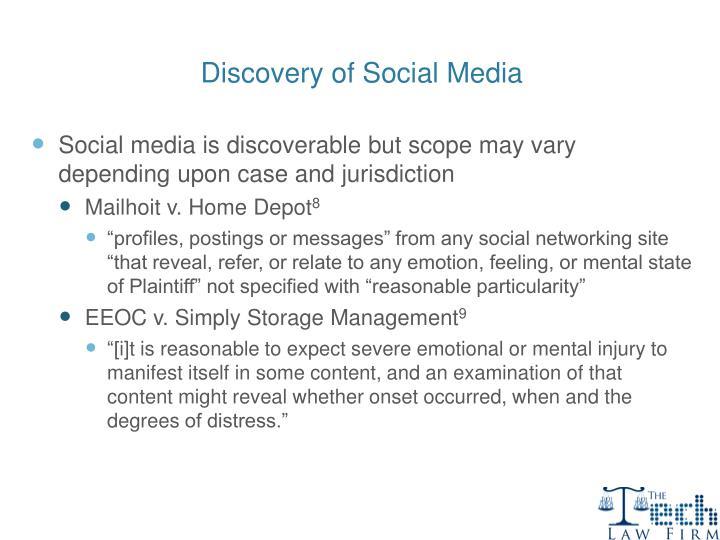 Discovery of Social Media