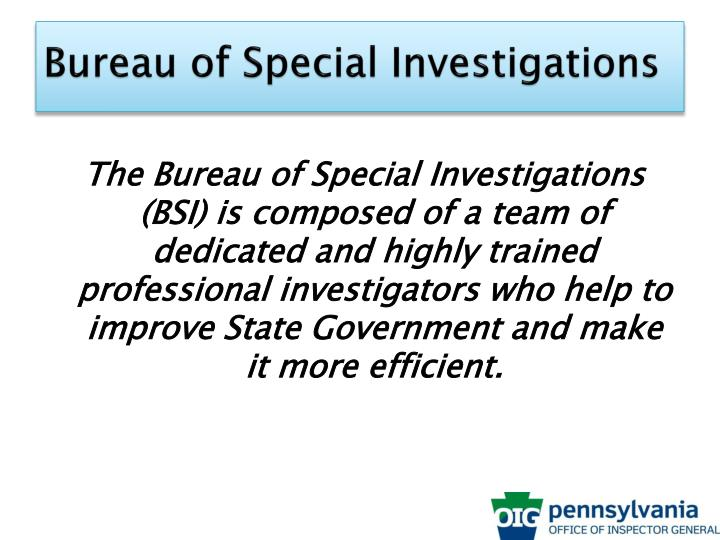 Bureau of Special Investigations