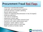 procurement fraud red flags