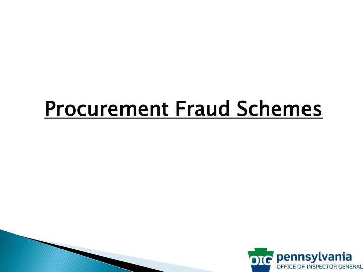 Procurement Fraud Schemes
