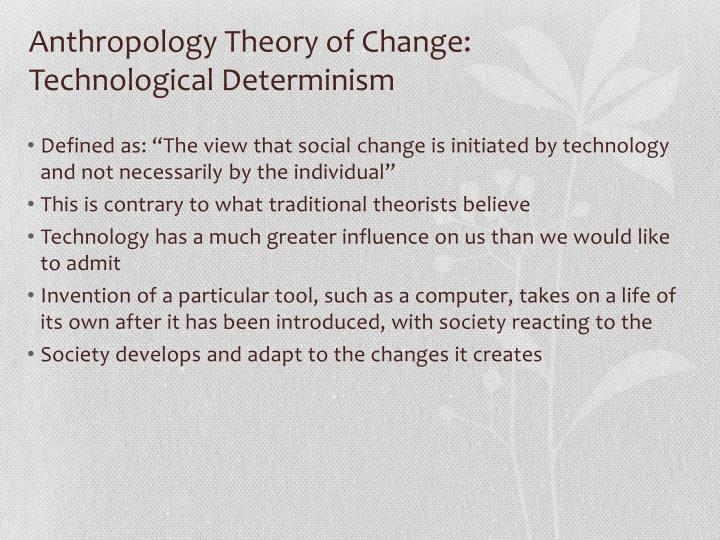 technological determinism theory essay