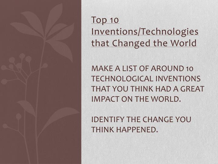 invention of the car changed the world essay Few inventions have had as profound an impact on the world as the car it was an invention that has not only change the way people lived, it's influenced business and the economy in ways no one could have foreseen when henry ford put together a mass production operation for his model t.