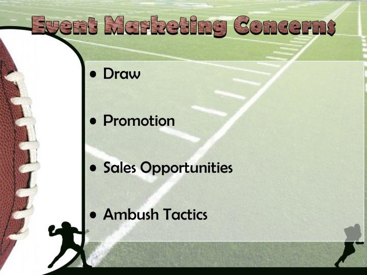 Event Marketing Concerns