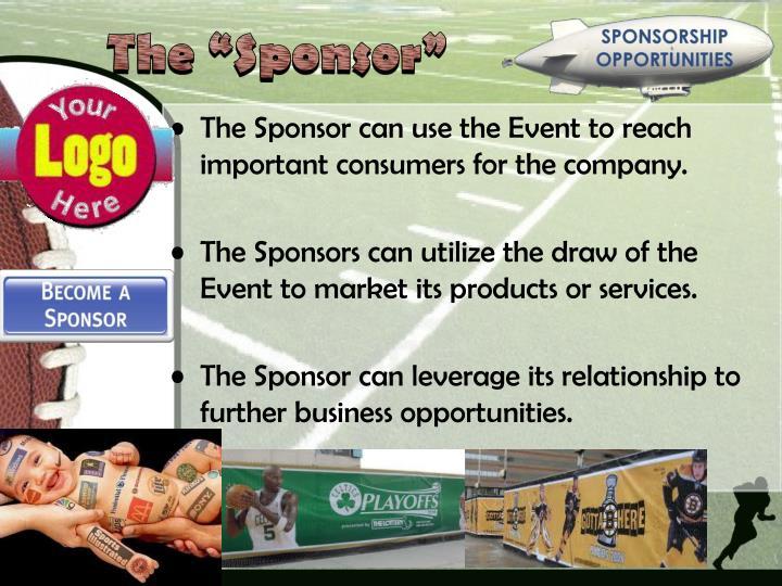 "The ""Sponsor"""