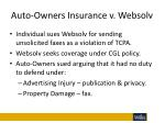 auto owners insurance v websolv