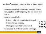 auto owners insurance v websolv1