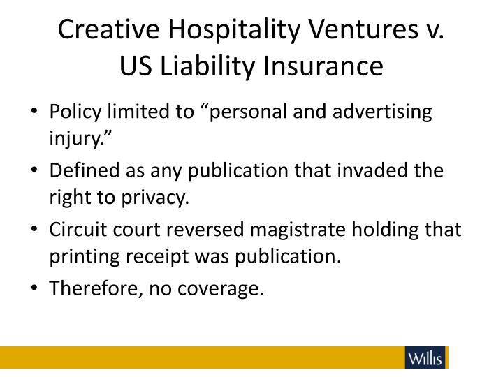 Creative Hospitality Ventures v.
