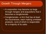 growth through mergers1