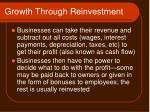 growth through reinvestment