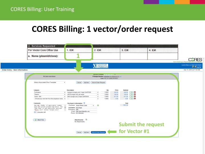 CORES Billing: User Training