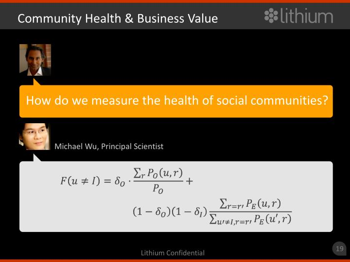 Community Health & Business Value