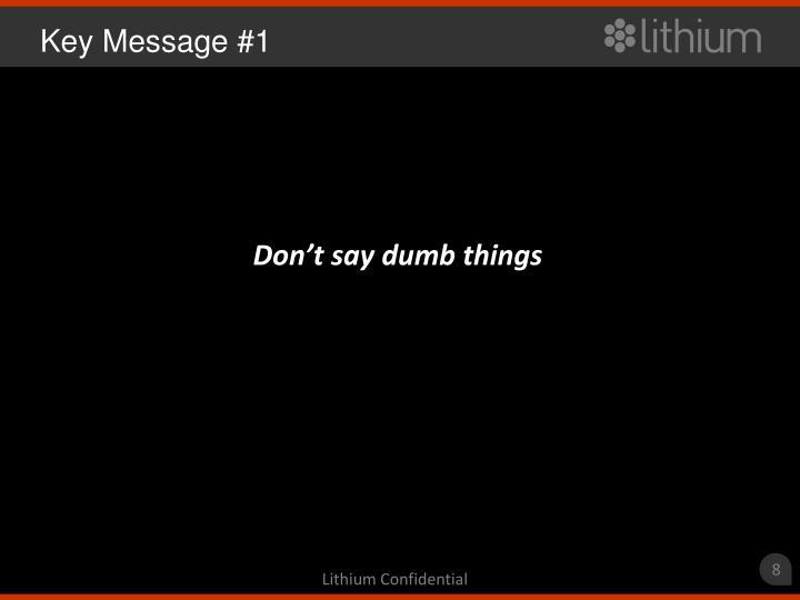Key Message #1