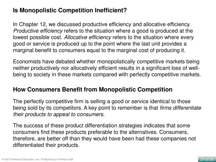 Is Monopolistic Competition Inefficient?