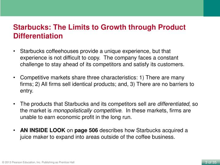 Starbucks: The Limits to Growth through Product Differentiation