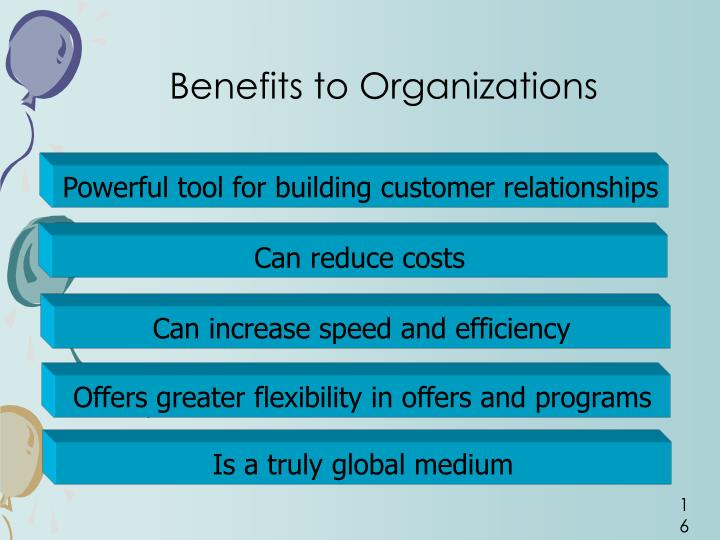 Benefits to Organizations