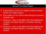 annual fire safety report