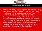 annual fire safety report1