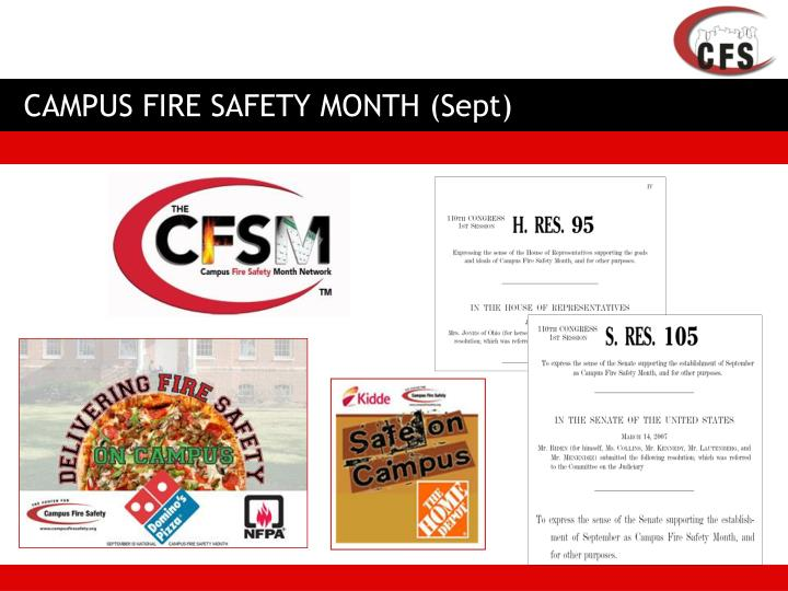 CAMPUS FIRE SAFETY MONTH (Sept)