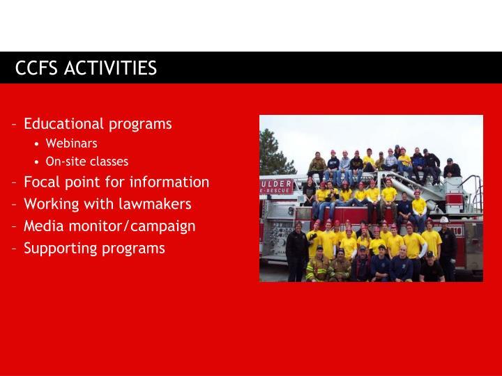 CCFS ACTIVITIES