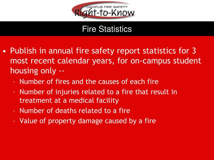 Fire Statistics