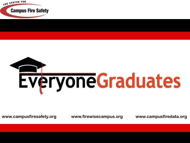 www.campusfiresafety.org              www.firewisecampus.org            www.campusfiredata.org