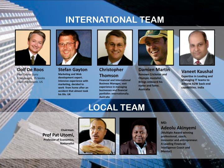 INTERNATIONAL TEAM