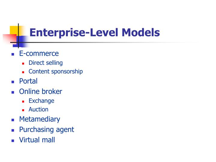 Enterprise-Level Models