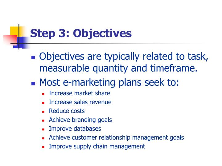 Step 3: Objectives