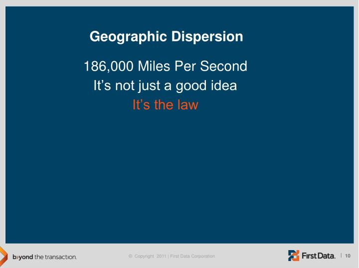 Geographic Dispersion