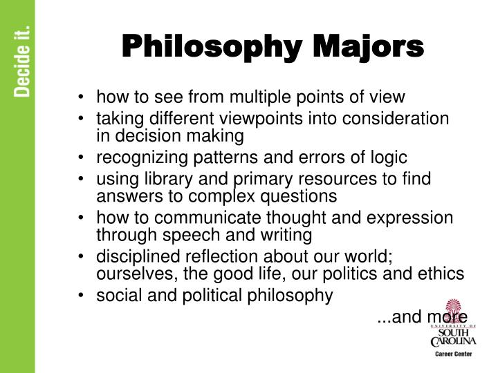 Philosophy majors