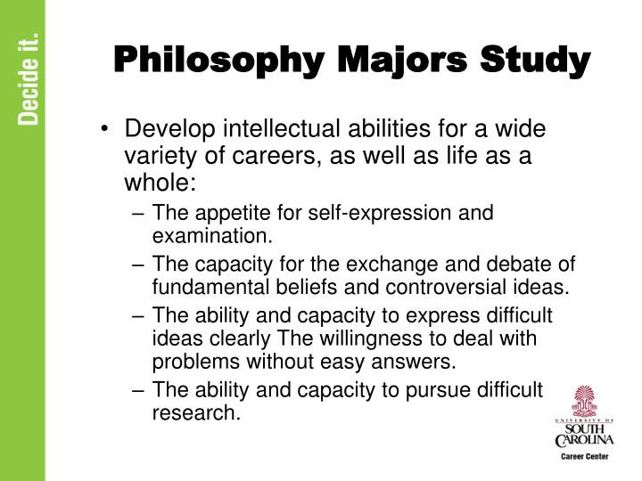 Philosophy Majors Study