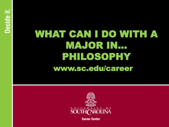 What can i do with a major in philosophy