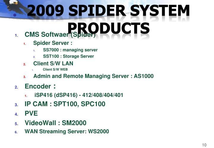 2009 Spider System