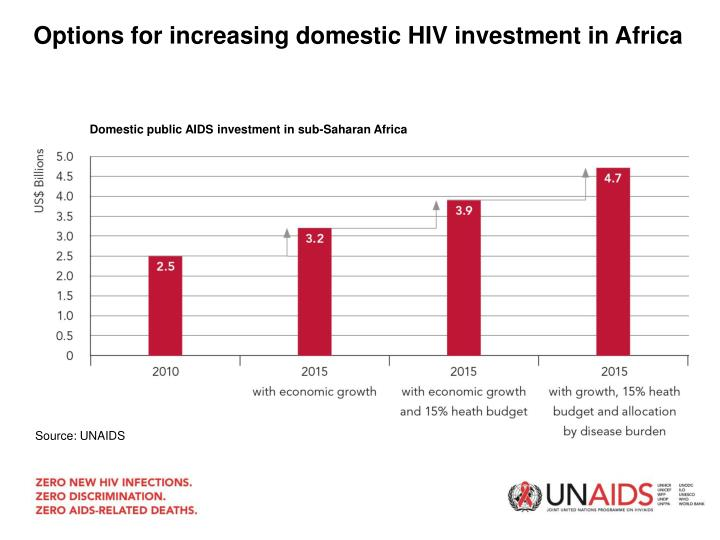 Options for increasing domestic HIV investment in Africa