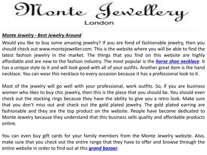 Monte Jewelry - Best Jewelry Around