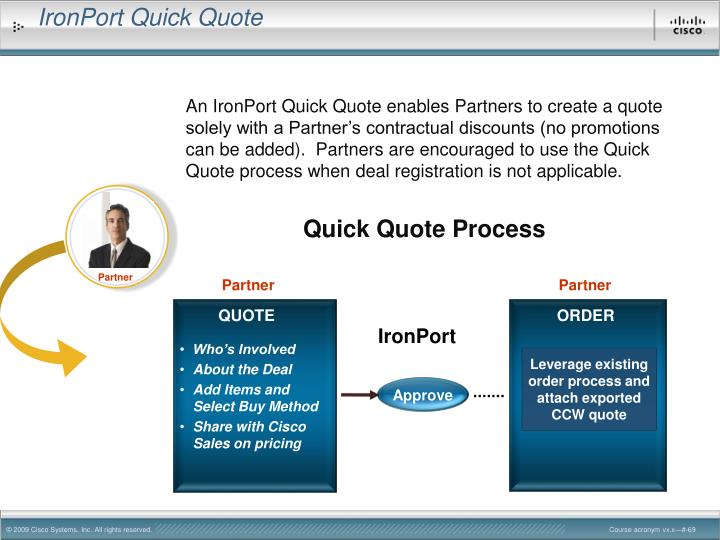 IronPort Quick Quote