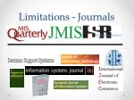 limitations journals