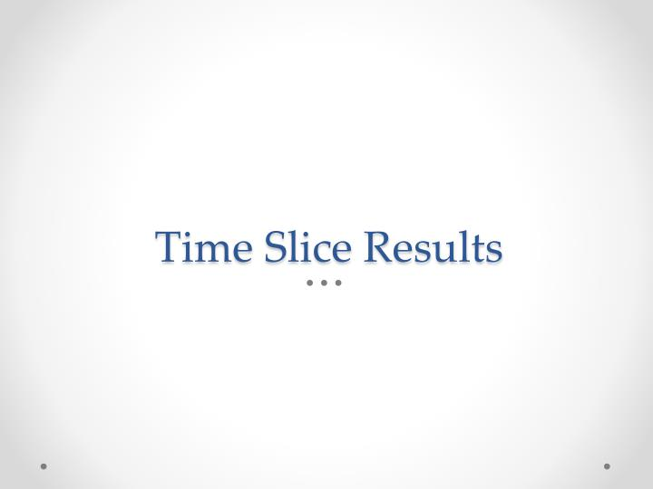 Time Slice Results