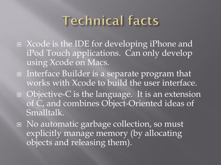 Technical facts