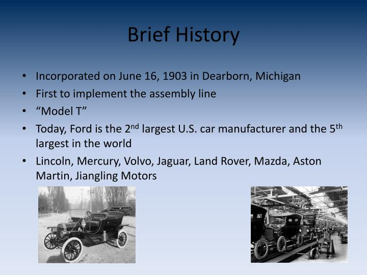 Ppt ford motor company powerpoint presentation id 1687730 for Ford motor company history