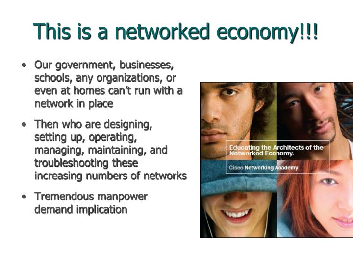 This is a networked economy!!!